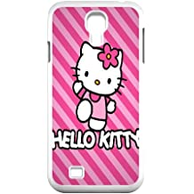 Hello Kitty T7E23Z1JM funda Samsung Galaxy S4 9500 caso funda blanca N34071