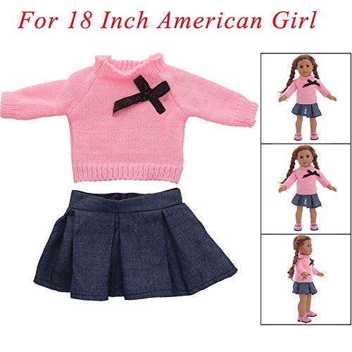 MCYs Zubehör Pullover Spielzeug Puppe Kleidung Kleiderschrank für 18 Zoll American Girl Doll