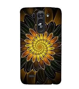 FUSON Orange Lotus Black Background 3D Hard Polycarbonate Designer Back Case Cover for LG G3 S :: LG G3 S Duos :: LG G3 Beat Dual :: LG D722K :: LG G3 Vigor :: LG D722 D725 D728 D724