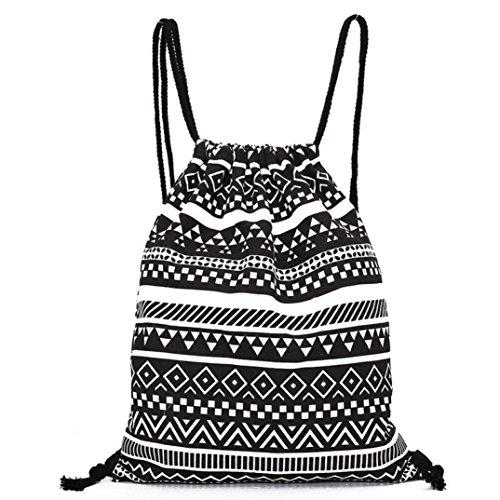Bolsos Para mujer, RETUROM Moda unisex retro impresos geométricos cordón mochila