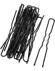 U en forme de clip de cheveux - SODIAL(R) en metal Femmes Barrette en U en forme de pince unique clips 20 pcs noir