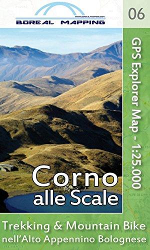 Corno alle Scale. Trekking & Mountain Bike nell'alto Appennino bolognese. Carta topografica per escursionisti 1:25.000. Ediz. ampliata por Massimo Gherardi