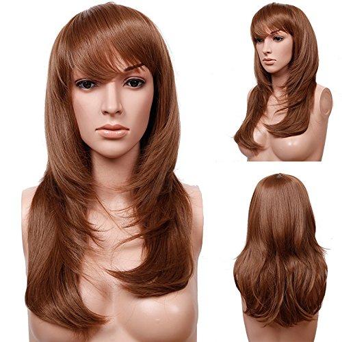 S-noilite® Perruque Cheveux synthétiques Femme Longue en couches layered Pour La vie quotidienne Cosplay Déguisement Costume - Couleur:Marron clair