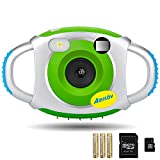 Digital Camera for Kid, AMKOV 1.44 Inch Screen Frame Photo Kids Camcorder with 16gb TF Card and Batteries ( Green )