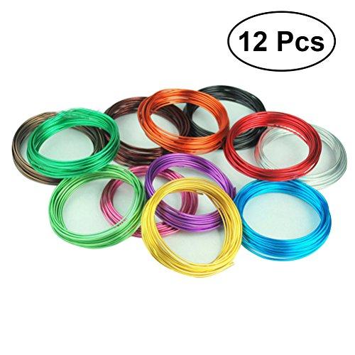 l flexibel Draht des Kunst des Aluminium zur Herstellung von Schmuck Halskette Armband 12pcs ()