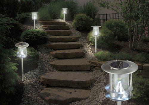 4 pezzi lampada solare da giardino con 6 led lampada solare da
