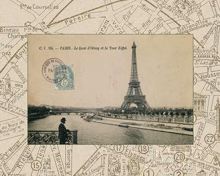Destination Paris II von Wild Apple Portfolio–Fine Art Print erhältlich auf Leinwand und Papier, canvas, SMALL (10 x 8 Inches )