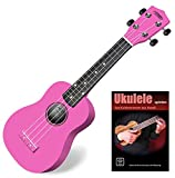 Classic Cantabile Soprano US-100 PK Ukulélé rose SET avec cahier d\'école + CD