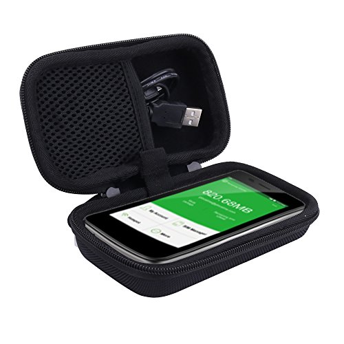 Reise Hart Taschen Hülle für GlocalMe 4G LTE mobiler Hotspot mobiler WLAN MiFi für Model G3 G2 von Aenllosi(schwarz)