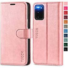 TUCCH Galaxy S20 Wallet Case, Magnetic PU Leather Viewing Stand [RFID Blocking] Credit Card Holder Protective Flip Cover with[TPU Shockproof Folio Cover] Compatible with Galaxy S20(6.2), Rose Gold