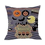 TianranRT Housse de coussin taie d'oreiller Halloween décoration housse de coussin...