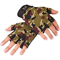 BXT - Guantes de ciclismo antideslizantes para hombre, guantes de camuflaje, para deportes de conducción, senderismo, motocicleta, escalada, camping, montaña, carretera, entrenamiento de gimnasio, [Full finger] Camouflage