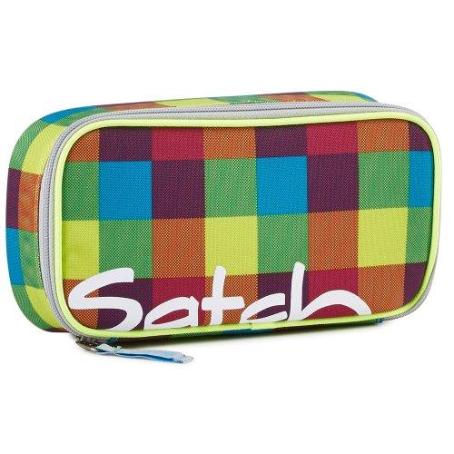 satch by Ergobag Beach leach 2.0 - Schlamperbox inklusive Geodreieck Bunt Karo gepixelt