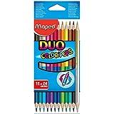 Maped M829600 - Buntstifte Color Peps Duo, 12-er Packung, 24 farben