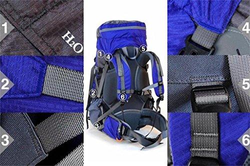 Sport e sacchetto di alpinismo di svago di grandi uomini e donne borsa zaino tracolla della borsa di capacità ( Colore : Blu , dimensioni : 56-75L ) Blu