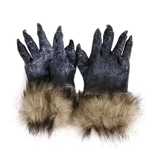 Werwolf Wolf Pfoten Cosplay Handschuhe Creepy Kostüm Theater Spielzeug Halloween Party Dekoration Zubehör ()