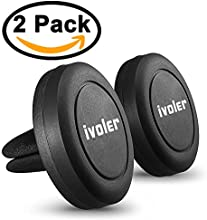 (2 Unidades) iVoler Soporte Móvil Coche Air Magnético,Soporte de Movíles para Rejilla de Ventilación de Coche Grip Magic Car Mount Universal para iPhone 7/6 Plus/6s/6/5 Samsung Galaxy S7/S6 Edge, Huawei P9/P8 lite,MP3 Player y Android Smartphone GPS