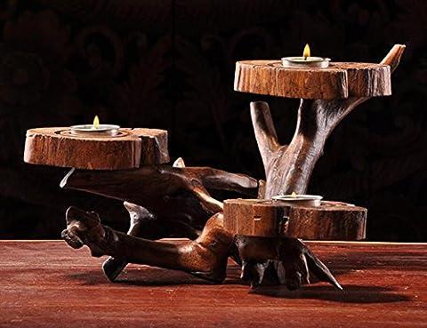 Style de cendrier rétro en bois massif recouvert d'un porte-cigarette personnalité créative rétro cadeau de salon haut de gamme