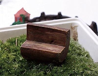 Milopon Micro Landschaft Deko Miniatur Gartenbank / Bank aus Holz für Puppenhaus Puppenhausmöbel Gartenmöbel Deko Garten von Milopon - Gartenmöbel von Du und Dein Garten