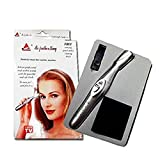 Tatero Bi Feather King Eyebrow and Body Hair Remover and Trimmer for Women (Silver)