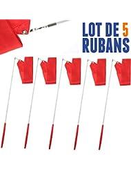 Lot de 5 Rubans de GRS 4 mètres Rouge