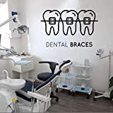 zqyjhkou Soins des Dents Sticker Mural Clinique Dentaire Vinyle Sticker Amovible...
