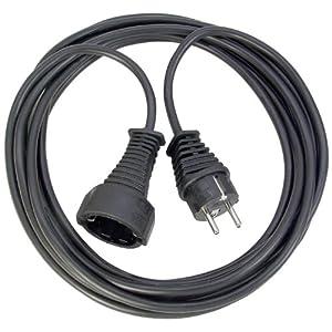 Brennenstuhl Qualitäts-Kunststoff-Verlängerungskabel 3m schwarz, 1165430