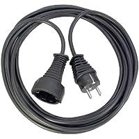 Brennenstuhl Qualitäts- Kunststoff-Verlängerungskabel mit Schutzkontakt-Stecker und -Kupplung (Verlängerungskabel für innen mit 10m Kabel) schwarz
