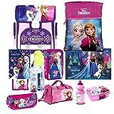 Disney Frozen EISKÖNIGIN 15 Teile pink ha Set Schulranzen RANZEN Federmappe