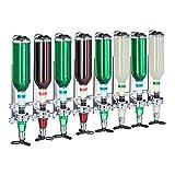 Relaxdays 10025721 Barbutler Wand Portonierer für 8 Flaschen, Profi Portionierer 3 cl, Bar Accessoire, aluminum, silber