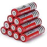 CursOnline® - 2x Batterie Ricaricabili UltraFire al Litio Special Edition (Red) da 3.7V 5800mAh ricaricabili mod. 18650 con Circuito di protezione di scarica ideali per lampade e torcia led, power bank, scooter elettrico, sigaretta elettronica...