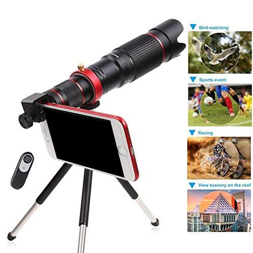 HUNDAN Aufsteckbares Telefonobjektiv, 4k 36x Zoom Mobiles Teleskopobjektiv mit langem Fokus, universelles externes Smartphone-Kameraobjektiv