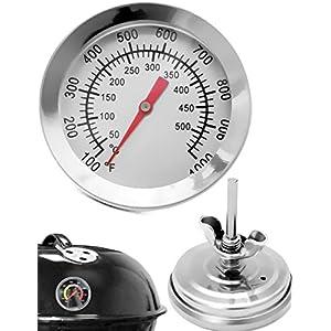 HOMETOOLS.EU® Thermomètre de cuisson analogique – Résistant à la température – Pour barbecue, grill, casseroles…