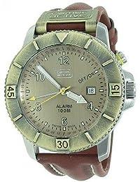 Camel Active A468.1067A.LGPA - Reloj analógico de caballero de cuarzo con correa de piel marrón (alarma)