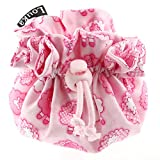 Louka Schnullertasche Schafe rosa Baby, Jungen & Mädchen - Schnullerbox mit Clip für Aufbewahrung des Schnullers