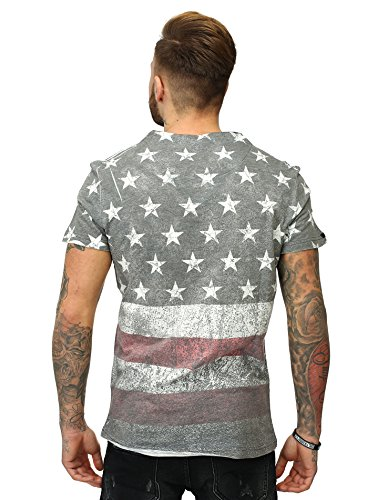 ... Key Largo Herren T-Shirt BORN Vintage Look USA Fullprint Amerika Slim  Fit Schnitt V ...