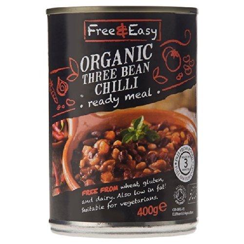 Free & Easy Organic Three Bean Chilli 400g