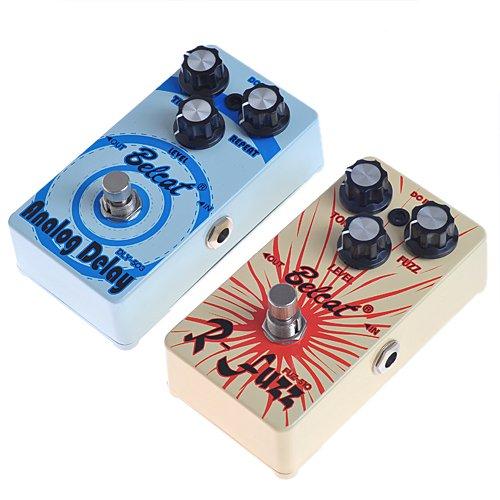 Kmise Belcat Fuzz tono fuz-510Pedal y Belcat DLY 503Analog Delay Pedal de doble Pack de 2