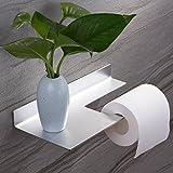 CEINTER Toilettenpapierhalter ohne Bohren Selbstklebender 3M Kleber Papierhalter WC Rollenhalter, Aluminium