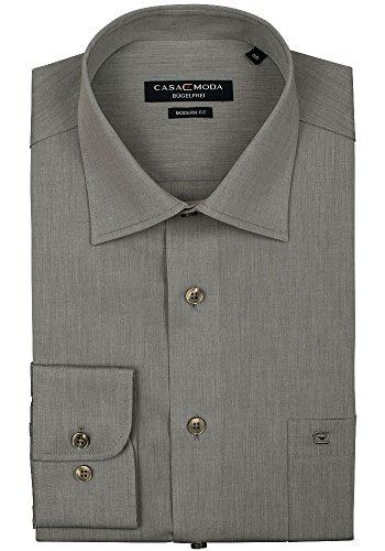 CASAMODA Herren Businesshemd Grau (Anthrazit 75)