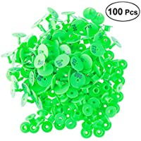 Vosarea 100 unids 1-100 Etiquetas de Oreja de Ganado de plástico de tamaño Grande Etiquetas de Animales domésticos para el Ganado de Cabra y Cerdo (Verde)