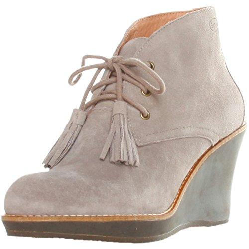 Dr. Scholl ENIS F244131062 Damen Schuhe Stiefeletten, Halbstiefel, Keil Pumps, Wedges, EU38 UK5, Taupe (Dr. Scholls Wedges Schuhe Frauen)