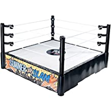 WWE Summer Slam Ring - Cuadrilátero de juguete para lucha libre (Mattel W6838)