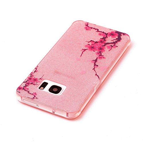 KM-WEN® Schutzhülle für Apple iPhone 7 (4,7 Zoll) Bling Farbmalerei Serie süß Muster Weiche TPU Case Cover Rückseite Schutzhülle Hülle für Apple iPhone 7 (4,7 Zoll) Farbe-10 Farbe-4