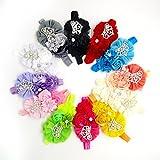 #9: Rrimin Baby Girls Dren Satin Headband Hair Bow Band Accessories Hair Decoration Hairband 1Pcs Color Random