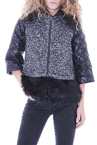 BOSIDENG - Piumino corto da donna con pelliccia f06itw15 s nero