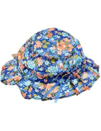 Shop frenzy Designer Polka Dotted Floral Fancy Colourful Cap/hat for Summer for Girls 2-3 Years