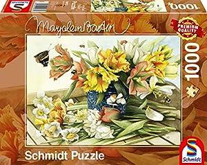 Schmidt Spiele Puzzle 59573frühlingsblüher, Marjolein Bastin, Rompecabezas, 1000Piezas