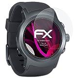 atFoliX Kunststoffglas Folie für LG Watch Sport Glasfolie - FX-Hybrid-Glass elastische 9H Kunststoff Panzerglasfolie - Besser als Echtglas Panzerfolie