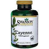 Swanson Cayenne-Pfeffer 450mg, 300 Kapseln - Capsaicin 40.000 SHU (Scoville-Einheiten Thermal Units), 450 g